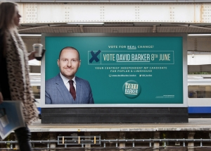 David Barker election billboard