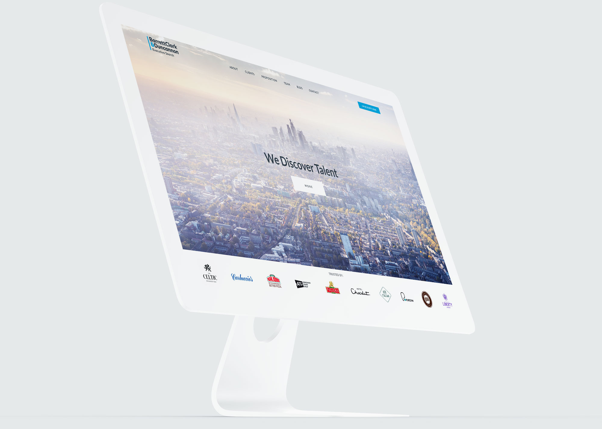 BC&D website desktop UX