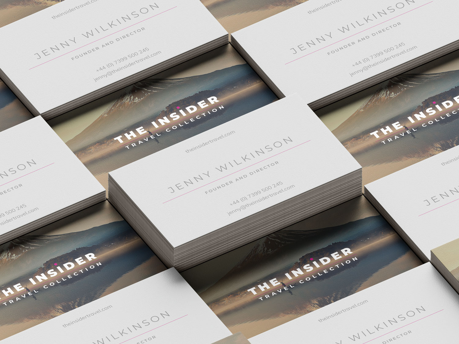 Insider Travel Collection business cards