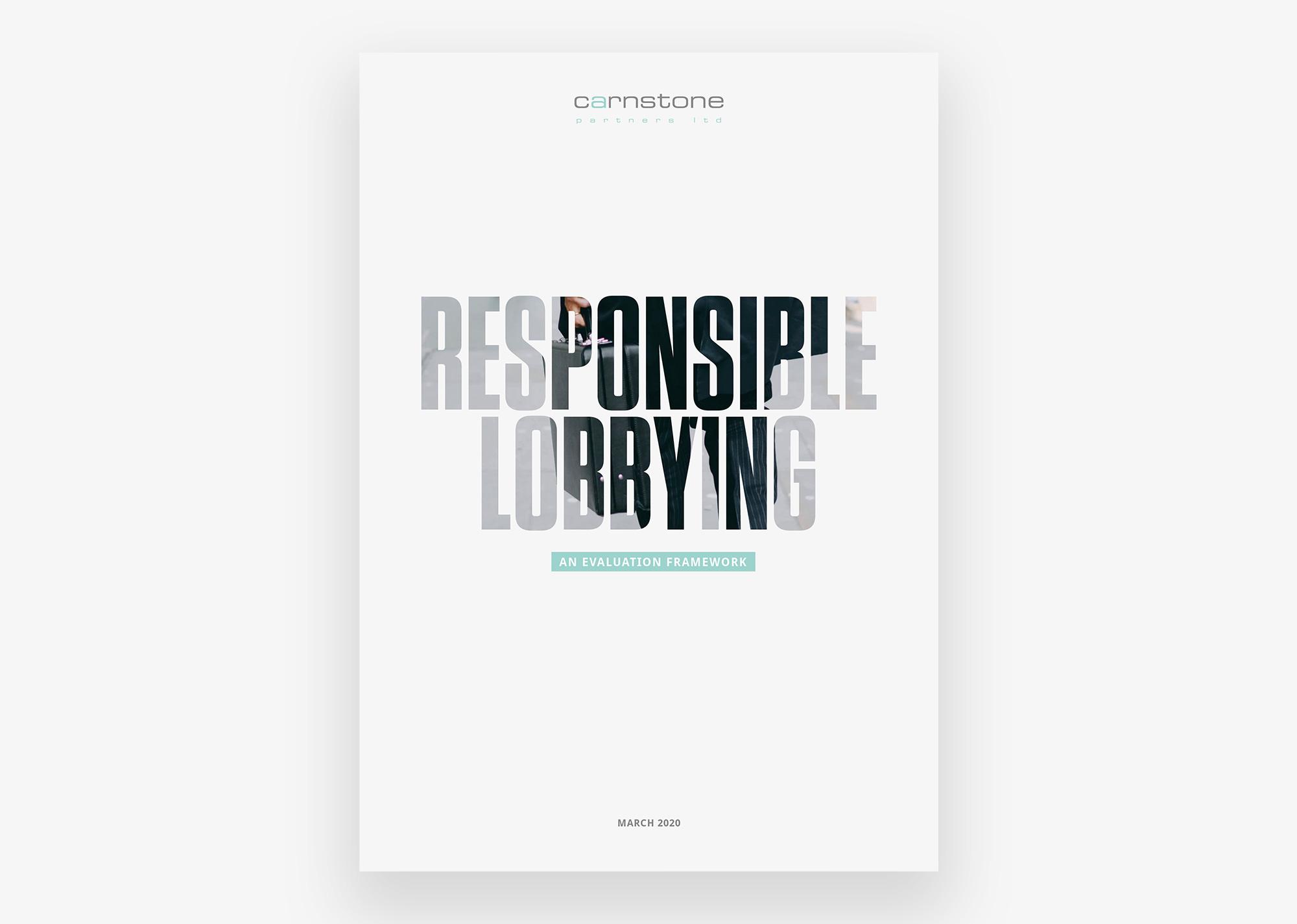 Responsible Lobbying Framework cover