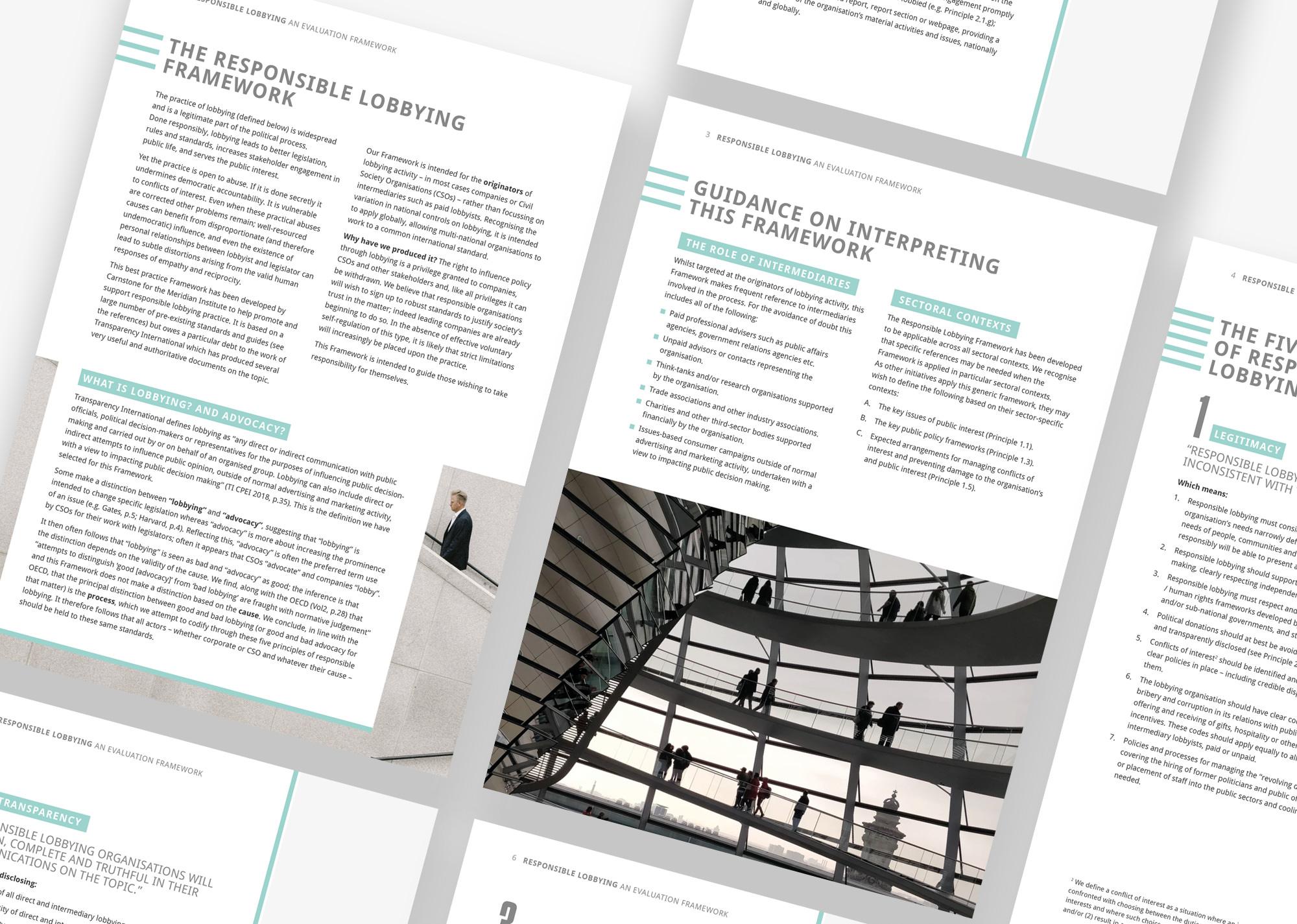 Responsible Lobbying Framework pages