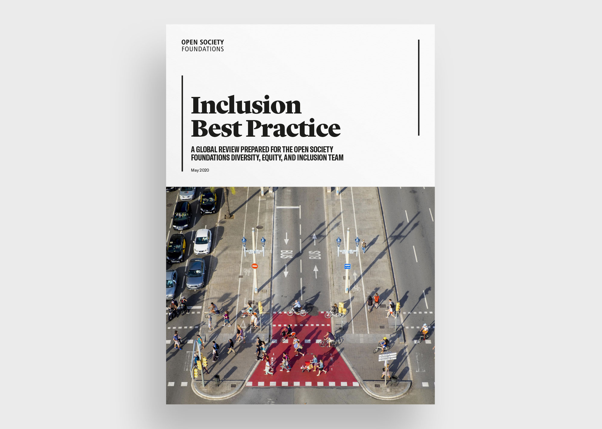 Open Society Foundations Inclusion Best Practice report cover
